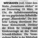 Zeitungsausschnitt Wiesbadener Kurier