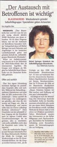 Zeitungsartikel Wiesbadener Kurier