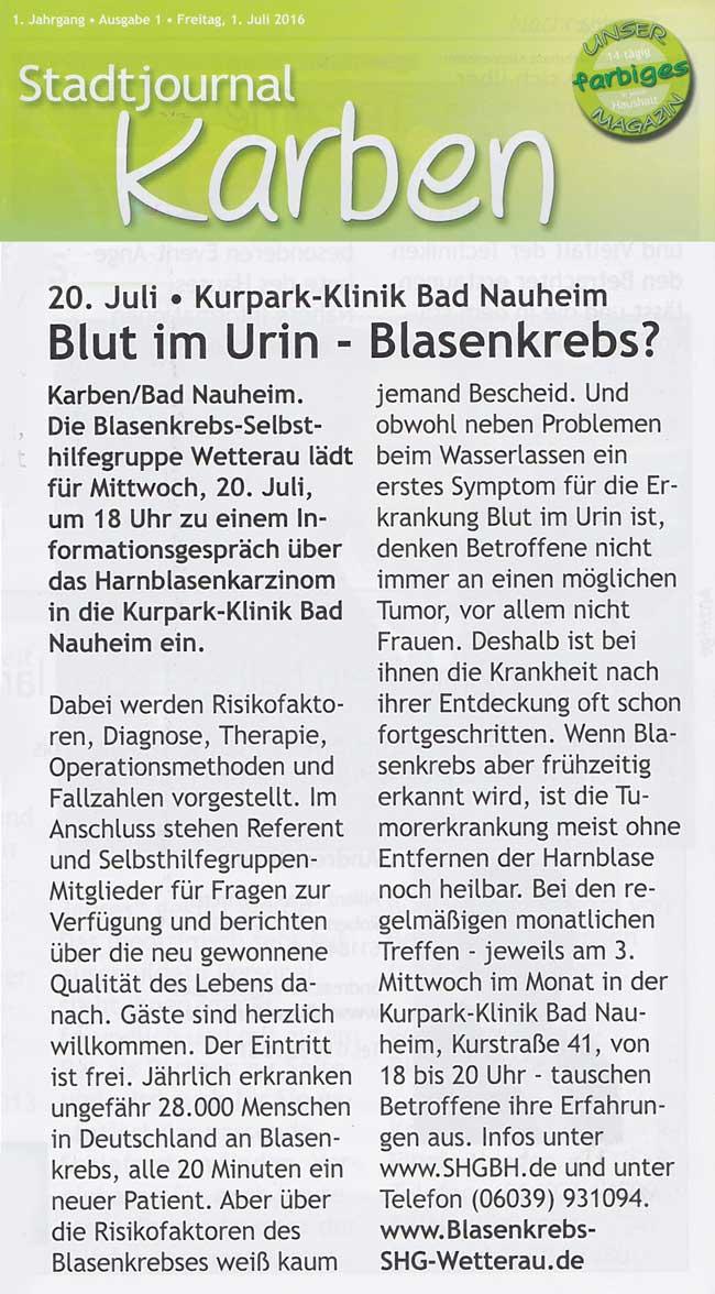 Stadtjournal Karben 1