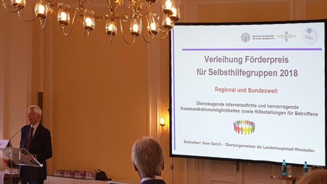 Laudatio Dr. Wegener 1. Preis an den Selbsthilfe-Bund Blasenkrebs