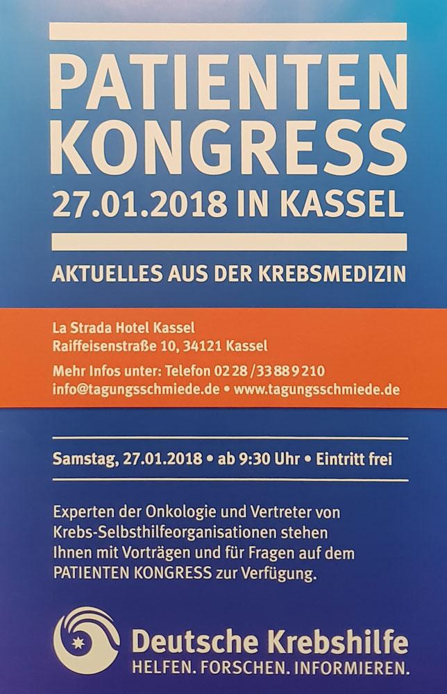 2018 Vorankündigung Patientenkongress Kassel
