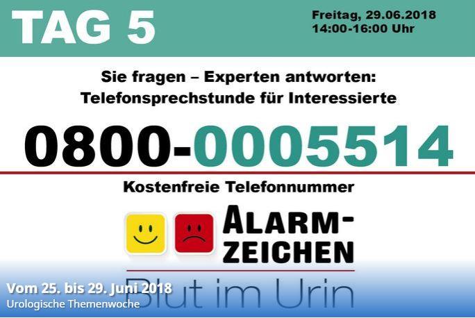 Urologische Themenwoche - Hotline-Tag